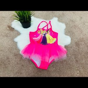 Disney BathingSuit Princess Tutu Sz 4T
